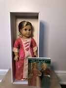 Retired Pair - American Girl Dolls Felicity And Elizabeth With Book New In Box