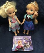 Disney Frozen13andrdquo Elsa And Anna Dolls With Cd And Read Along Book