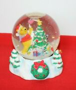 Winnie The Pooh And Piglet Decorate A Christmas Tree Snow Globe