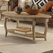 Alaterre Rustic 48 Reclaimed Wood Oval Coffee Table Brown Farmhouse, Rustic