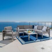 Cape Coral Outdoor 6-seat Sectional Sofa Chat Set With