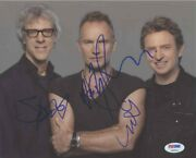 The Police Autographed Signed 8x10 Photo Certified Authentic Psa/dna Coa Loa