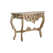 Biscottini Table Console En Bois Feuille Dand039argent Finition Antique Made In Italy