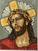Completed Framed Cross Stitch Crown Of Thorns Jesus Christ Gift Religious
