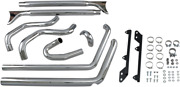Bassani True Dual Fishtail Chrome 2-2 Motorcycle Exhaust 2007-17 Harley Softail