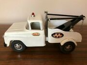 Vintage Original 1950s Tonka Aa Wrecker Ford Dually Pressed Steel Tow Truck