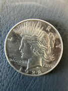 Vintage 1922 Liberty Peace Silver Dollar Great Condition