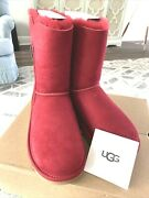 New In Box Ugg Bailey Zip Short Kiss Suede Fur Boots Womens Size 7