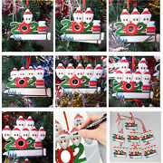 Diy Personalized 2021 Christmas Tree Ornaments Mask Vaccine Hanging Family Gifts