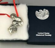 De Matteo Sterling Silver1986 Madonna And Child Ornament, Us Historical Society