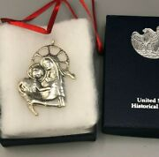 De Matteo Sterling Silver1985 Madonna And Child Ornament, Us Historical Society