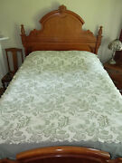 Vintage Chenillebedspread Woven Coverlet Beautiful Sage Green Twin