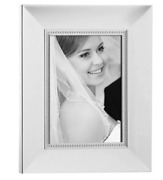 Lenox Jubilee Pearl 5x7 Silver Plated Photo Frame G9062