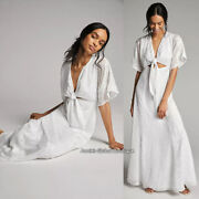 Rare Nwt Anthropologie Luciana Chiffon Burnout Maxi Dress. Tie-front. Size 10