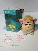 1999 Vintage Tiger Furby Babies 70-940 Pink/ Yellow W/box Tested/working