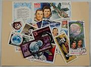 Soviet Union Cosmonaut Stamp Collection Lot Cccp Russia Space Rocketship