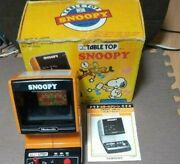 Nintendo Game Watch Table Top Snoopy Showa Rare Retro Japan Used Item With Box