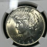 1923 Peace Silver Dollar Ngc Ms65 Beautiful Certified Coin
