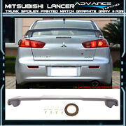 Fit 08-17 Mitsubishi Lancer Trunk Spoiler Oem Painted Color Graphite Gray A39