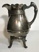 Antique Late 19th Simpson Hall Miller And Co. Treble Plate Silver 1899 Creamer