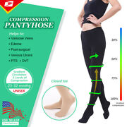 Medical Compression Pantyhose Tights 23-32 Mmhg Support Stockings Women's Men's