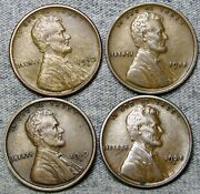 1910-s 1918 1919-d 1925-d Lincoln Cent Wheat Penny Coin Lot ---- S638