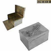 Sterling Silver Playing Card Box 1905