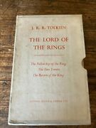 J.r.r. Tolkien, The Lord Of The Rings, First Edition, 1962 ,13,9,10