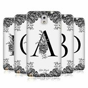 Nature Magick B And W Floral Monogram 1 Soft Gel Case For Samsung Phones 2