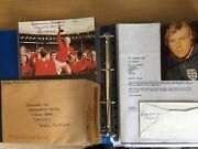 World Cup 1966 Signed Bobby Moore Alf Ramsey