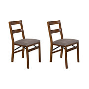 Meco Stakmore Upholstered Seat Folding Chair Set Fruitwood 2 Pack Open Box