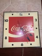 Rare Vintage Early 1900s Electric Coca-cola Clock Sign