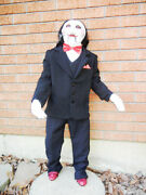 Lifesize Poseable Billy The Saw Puppet Halloween Display Prop Jigsaw - 41 Inches