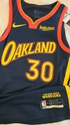 Steph Curry 2020-21 Golden State Warriors Authentic Throwback Nike Jersey Sz 44