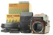 【top Mint In Box】 Mamiya M645 1000s Gold Lizard Limited Medium Format From Japan