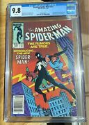 Amazing Spider-man 252 Cgc 9.8 White Pages Newsstand Edition 1st Black Suit