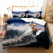 Surfing Holiday Bedding Cover Beauty Summer Sea Pillowcase Duvet Comforter Cover