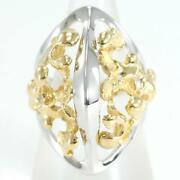 Gilbert Albert 18k Yellow Gold White Ring 9 Size About10.5g Free Shipping Used