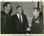 1986 Press Photo General Richard E. Cavazos And Officers At Armed Forces Lunch