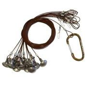 Lifetime Decoys 48 Inch 6oz Texas Rigs -andnbsp Brown With Mesh Bag