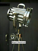 Nautical Spot Light Steel Tripod Stand Collectible Home Office Decorative Lamp