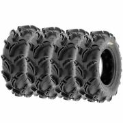 Set Of 4 Sunf 25x8-12 Atv Utv Mud And Trail At Tire 25x8x12 6 Ply Mud Tires A048