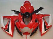 Red White Injection Molding Abs Fairings For Suzuki 2006 2007 Gsxr 600 750 K6