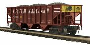 Mth O Scale Premier Set Of 4 Western Maryland Wm Freight Cars, New/used