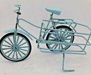 1960's Old Toys Bikes.made In Italy.metal.blue.rare.collectible