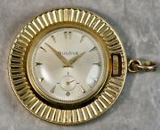 Antique Bulova 1950and039s 18k Yellow Gold Necklace Chain Watch