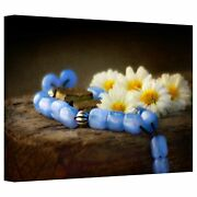 Dragos Dumitrascu 'blue Marbles' Gallery-wrapped Canvas Art Mini
