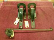 1939-1940 Ford Sedan Trunk Lid Hinges And Support Rod.