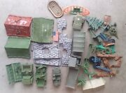 Marx Mpc And Tim Mee Army Men Tents Trucks Played Hard Vintage Us Plastic