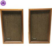 Vintage Pair Sony 2 Way Ss-210 Wooden Book Shelf Speakers - Tested Working